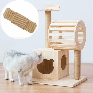 Replacement Cat Scratching Sisal Rope for Cat Tree and Tower DIY Desk Chair Legs Binding Material For Sharpen Claw