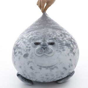 Chubby Blob Seal Pillow Plush Doll 3D Novelty Cartoon Throw Pillows