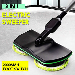 Rechargeable 360 degree Rotation Cordless Floor Cleaner Scrubber Polisher Electric Rotary Mop Microfiber Cleaning Mop for Home