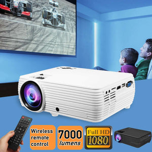 X5 LCD Projector android4.4/6.0 Home Cinema Theater Movie LED Proyector HD Projectors AV Support 1080P 7000 Lumen