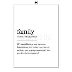 Home Friend Travel Love Definition Quotes Nordic Posters And Prints Wall Art Canvas Painting Wall Pictures For Living Room Decor