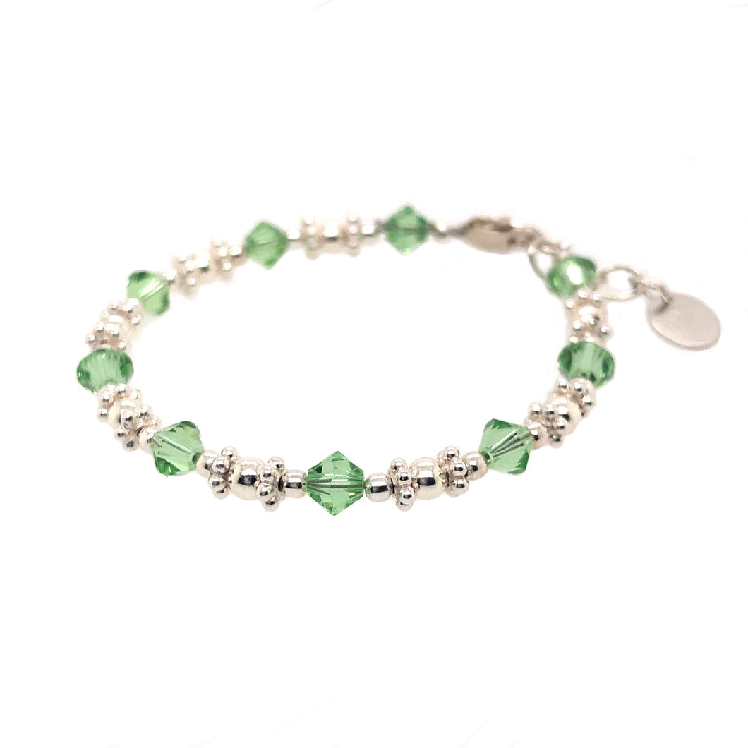 Green Apple Crystal Bead Bracelet - B.B.Balencia