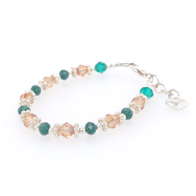 Enchanted Forest Crystal Bead Bracelet - B.B.Balencia