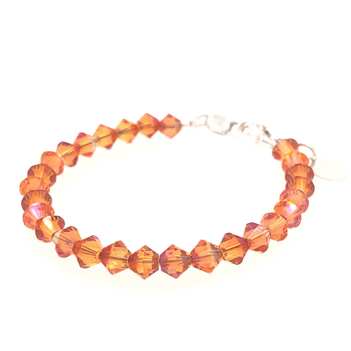 Orange Crush Crystal Stackable Bracelet - B.B.Balencia
