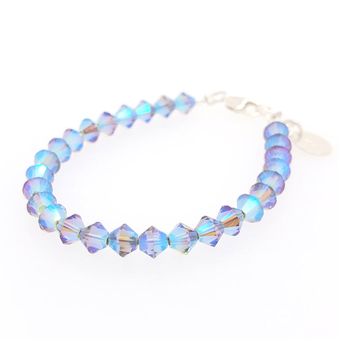 Stormy Night Crystal Stackable Bracelet - B.B.Balencia