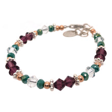 Load image into Gallery viewer, Wild Berry Crystal Bead Bracelet - B.B.Balencia