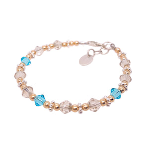 Ice-Kissed Crystal Bead Bracelet - B.B.Balencia