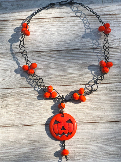 Limited Edition Pumpkin Necklace - B.B.Balencia