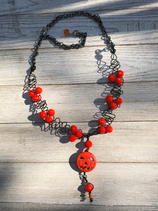 Limited Edition Pumpkin Necklace With Chain - B.B.Balencia