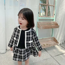 Load image into Gallery viewer, Plaid Cardigan and Skirt 2 Piece Set - B.B.Balencia