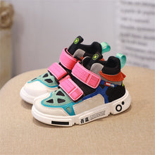 Load image into Gallery viewer, Multi Colored High Top Sneakers - B.B.Balencia