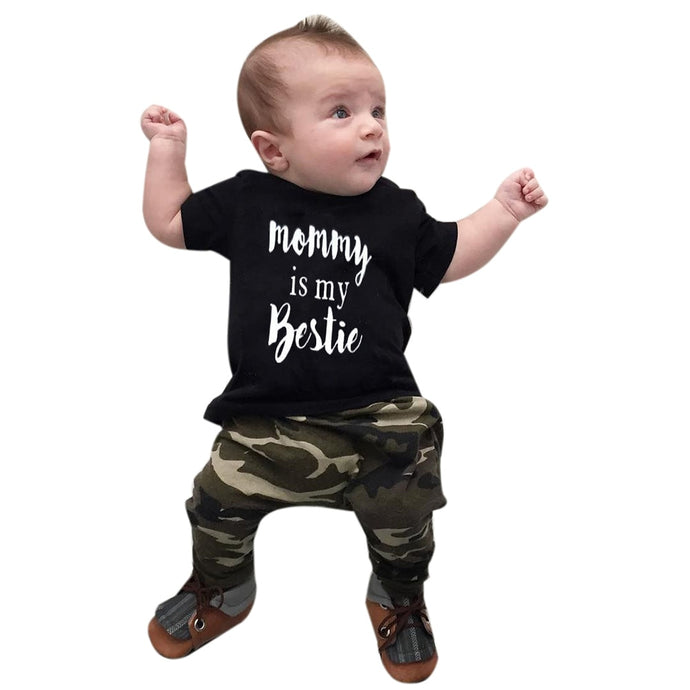 Mommy Is My Bestie Top & Camouflage Pants - B.B.Balencia