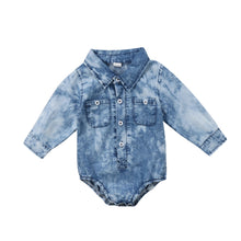 Load image into Gallery viewer, Marco Denim Style Long Sleeve Bodysuit - B.B.Balencia