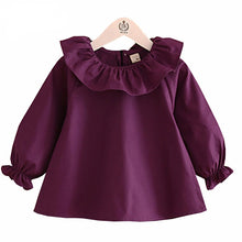 Load image into Gallery viewer, Lauren Long Sleeve Ruffle Neck Blouse - B.B.Balencia