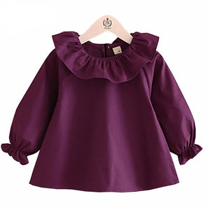 Lauren Long Sleeve Ruffle Neck Blouse - B.B.Balencia