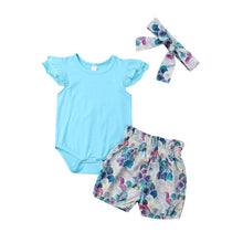 Load image into Gallery viewer, Milly Bodysuit & Mermaid Bloomers 3 Piece Set - B.B.Balencia