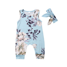 Load image into Gallery viewer, Nicole Floral Romper & Headband Set - B.B.Balencia