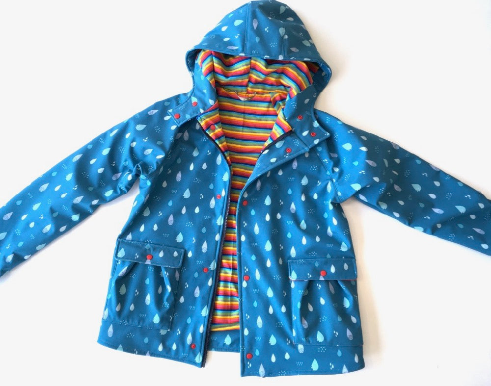 Tilly and the Buttons Eden Rainbow & Raindrops Jacket