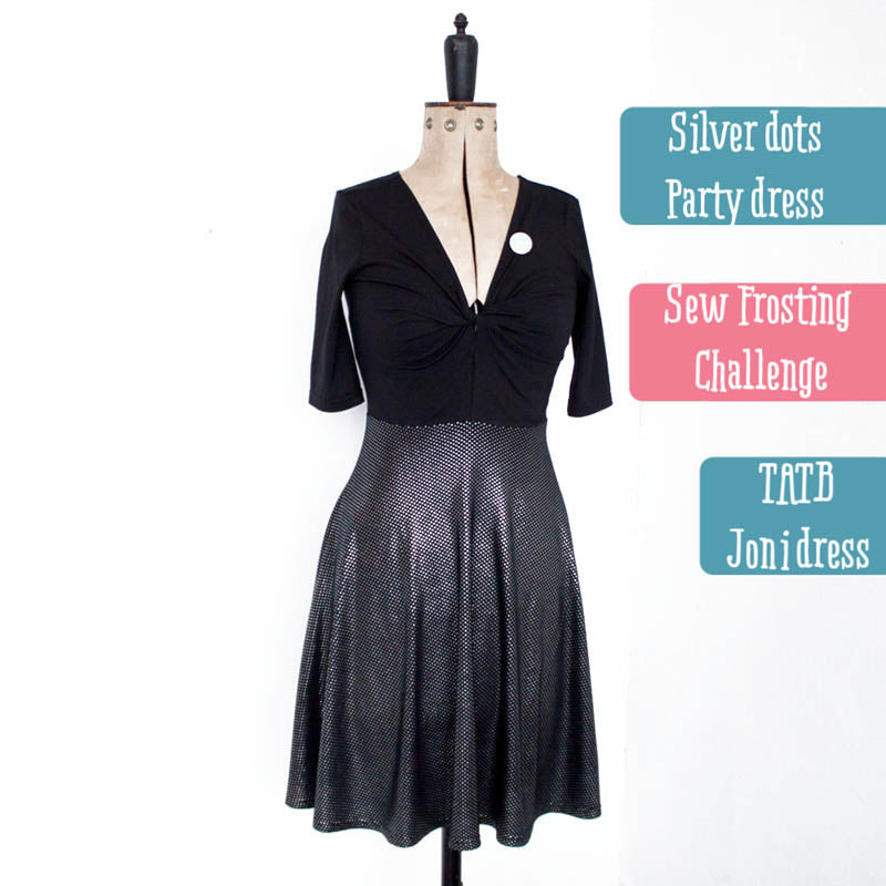 Joni Dress With Silver Dot Jersey