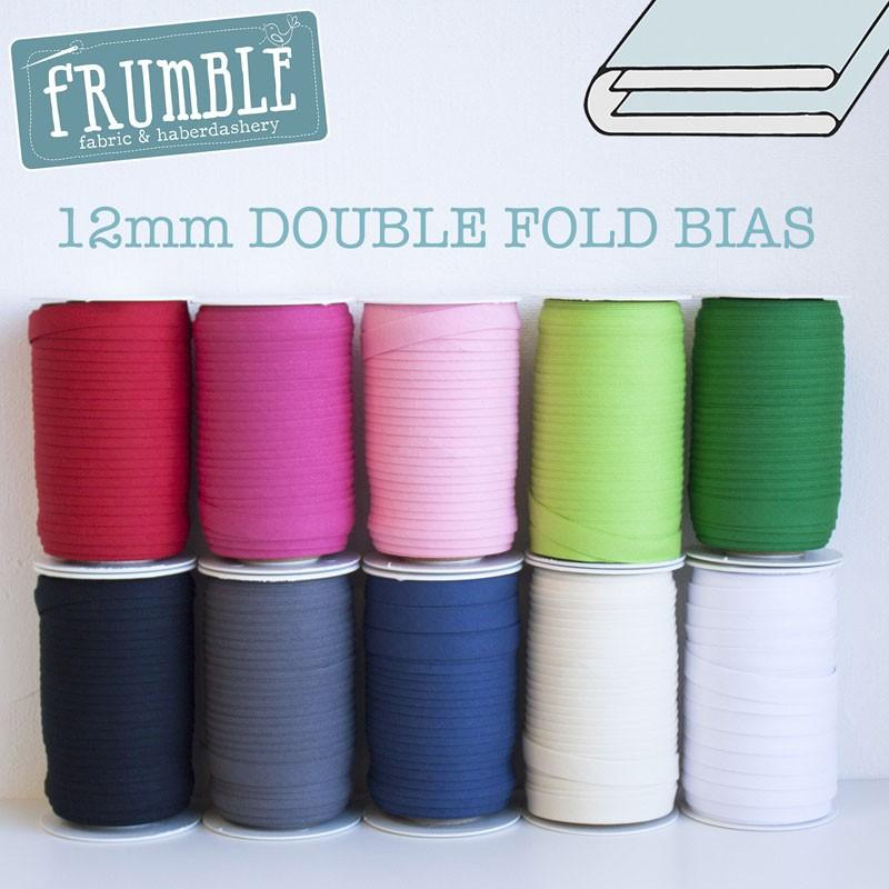 12mm Double Fold Bias Binding - Frumble Fabrics
