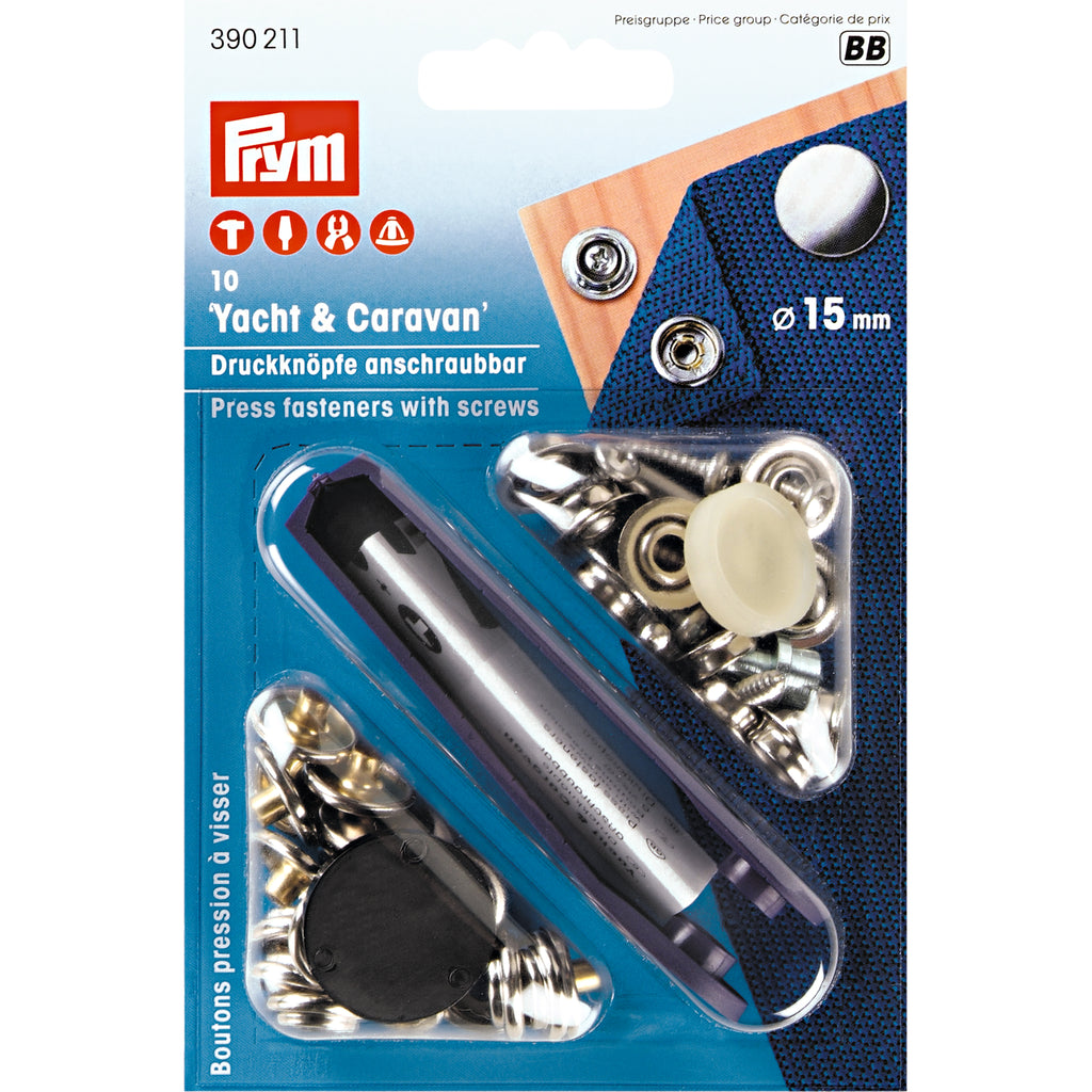 Prym Press Fasteners with Screws 15mm - Frumble Fabrics