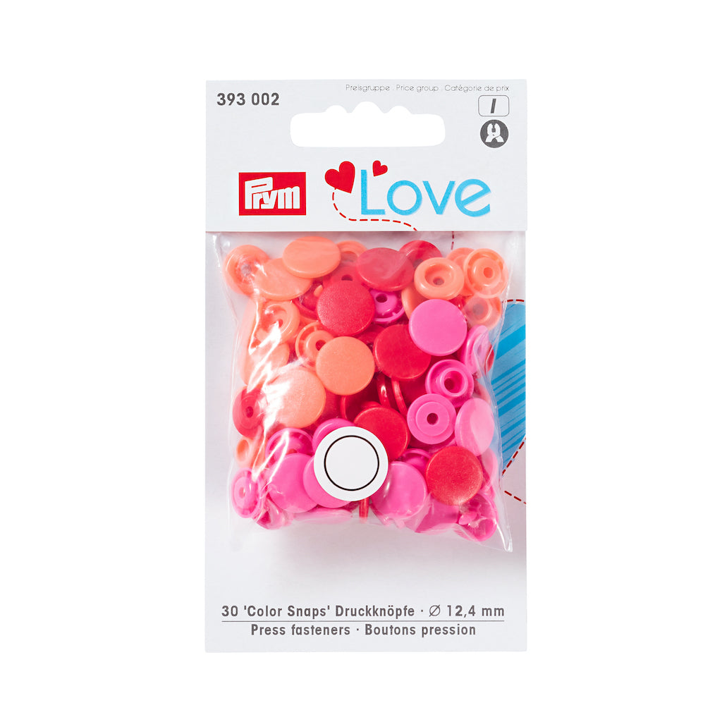 Prym Love Colour Snap Fastener 12.4mm - Red - Frumble Fabrics