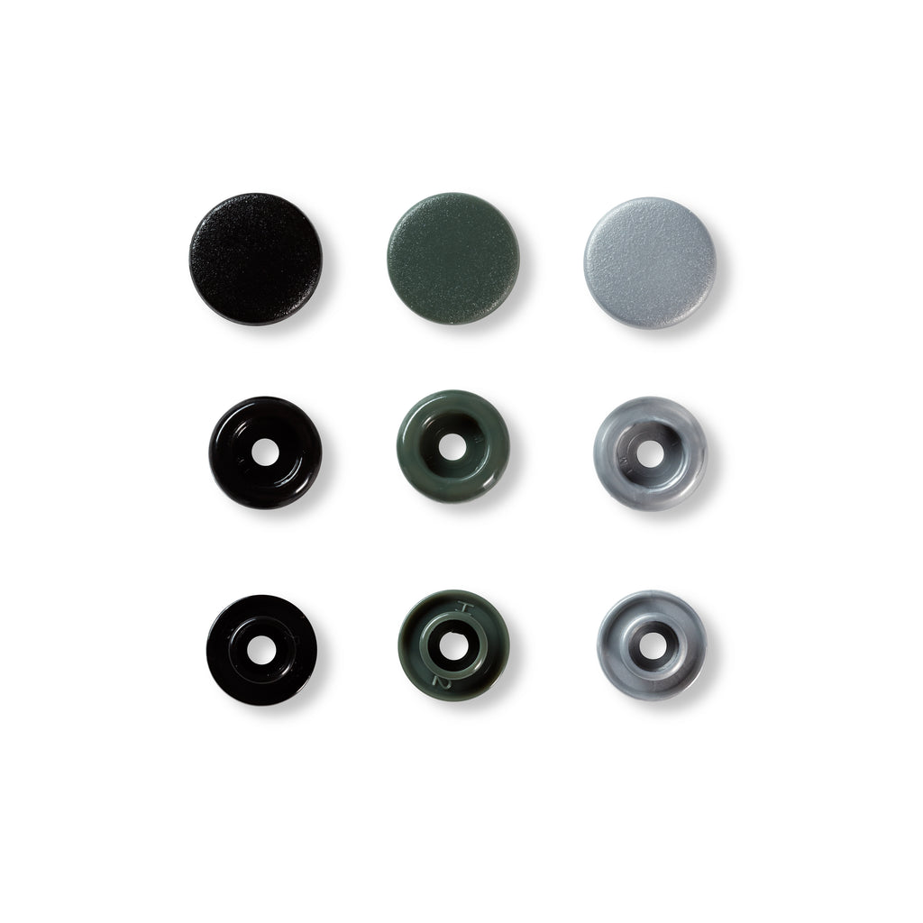 Prym Love Colour Snap Fastener 12.4mm - Grey - Frumble Fabrics