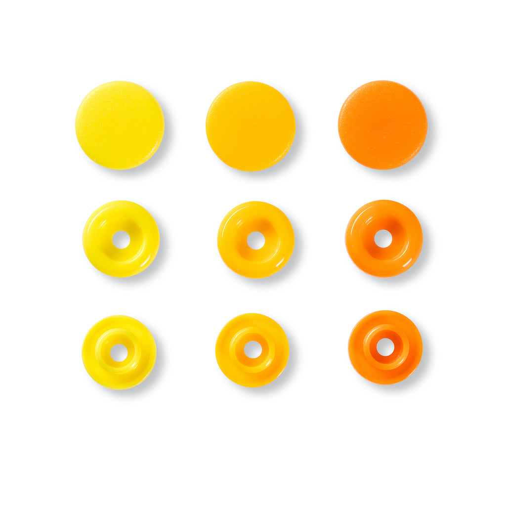 Prym Love Colour Snap Fastener 12.4mm - Yellow