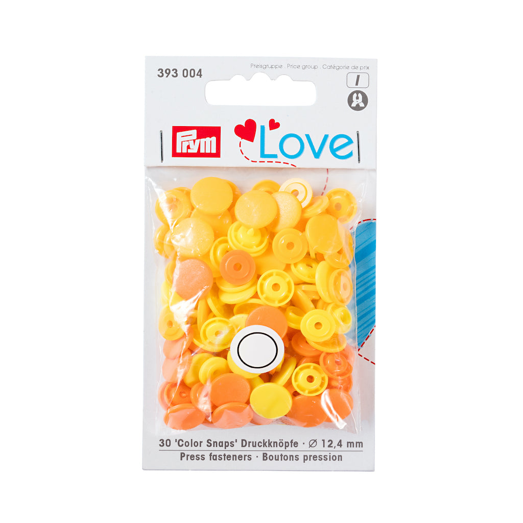 Prym Love Colour Snap Fastener 12.4mm - Yellow - Frumble Fabrics