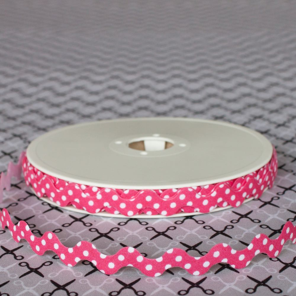 15mm Polka Dot Ric Rac Bias - Frumble Fabrics