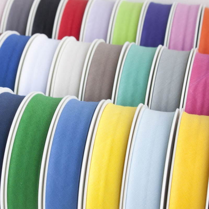 16mm (5/8 Inch) Bias Binding Tape Available in 5m 25m and 45 Colours