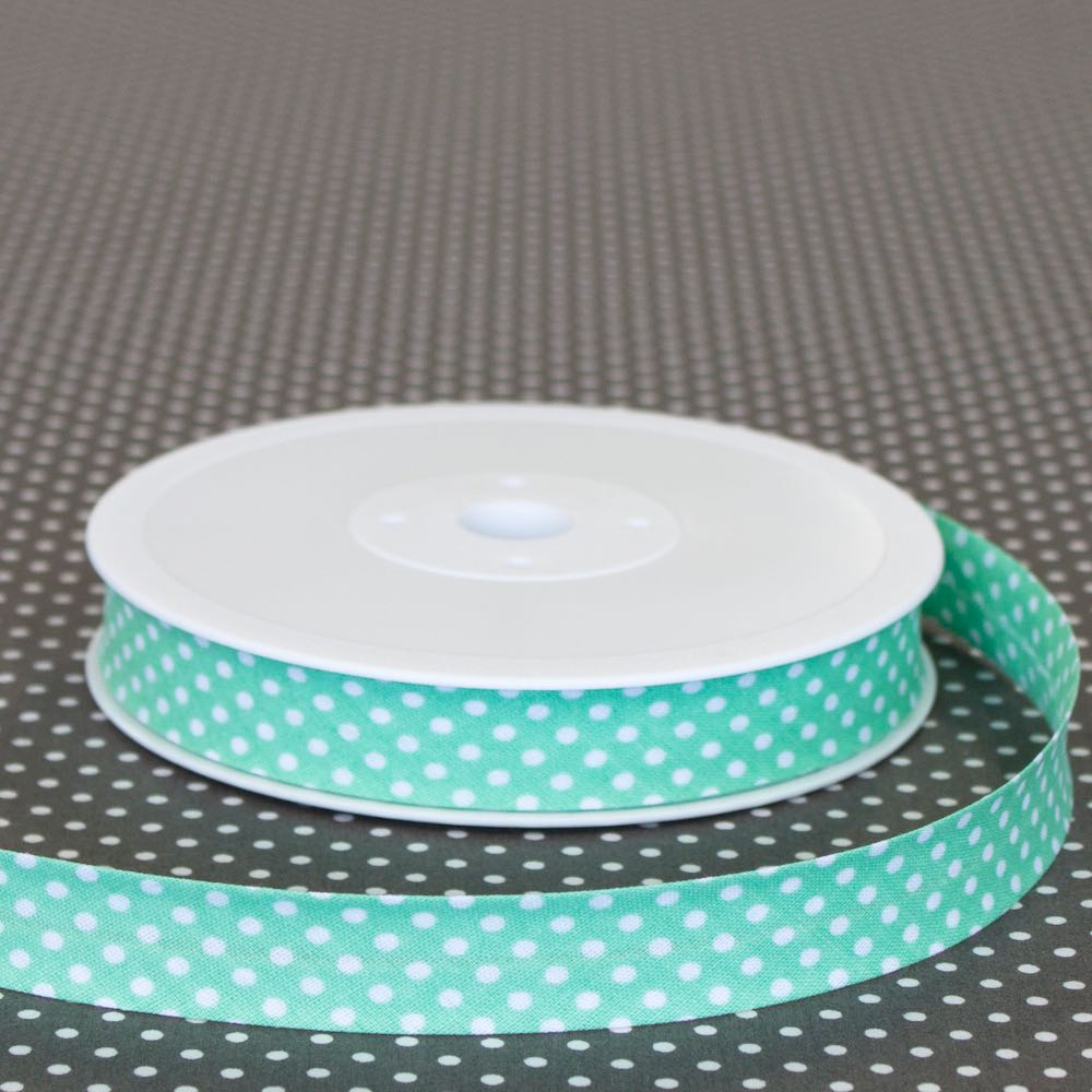 18mm Polka Dot Bias Binding - Frumble Fabrics