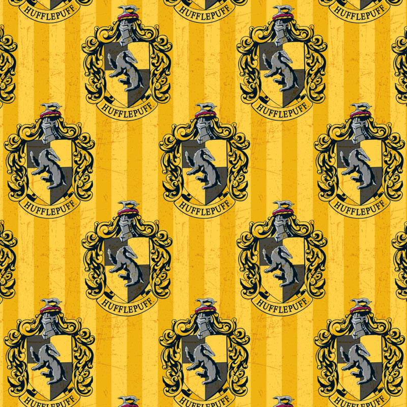 Harry Potter Hufflepuff House Fabric by Camelot