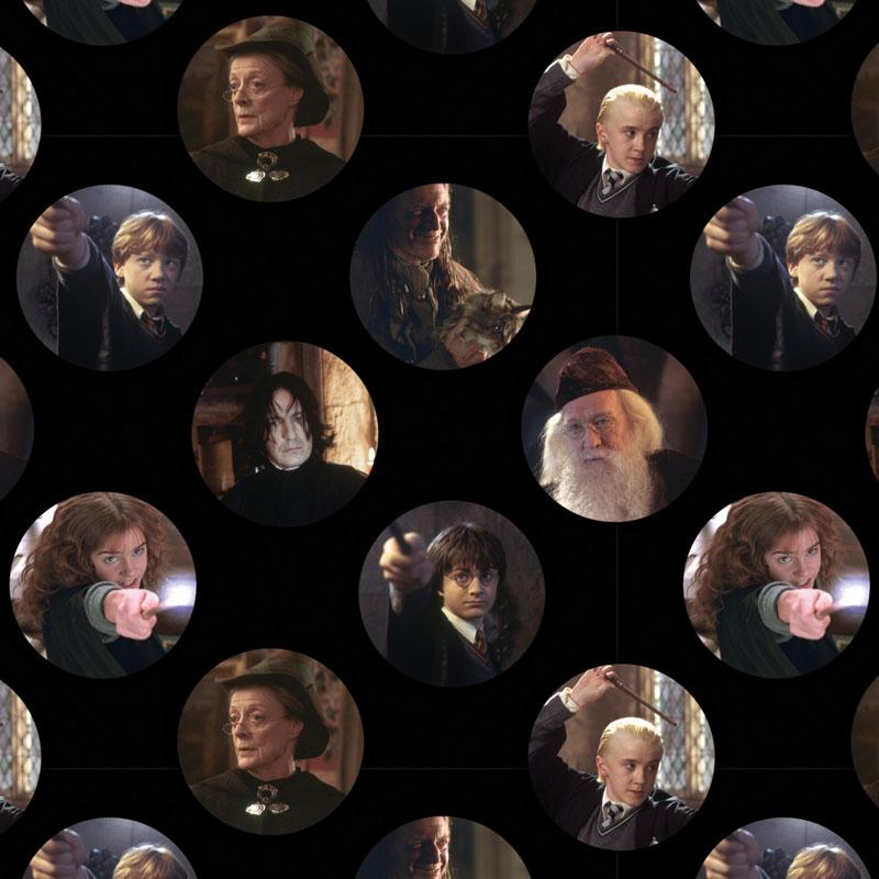 Harry Potter Character Circles Fabric by Camelot