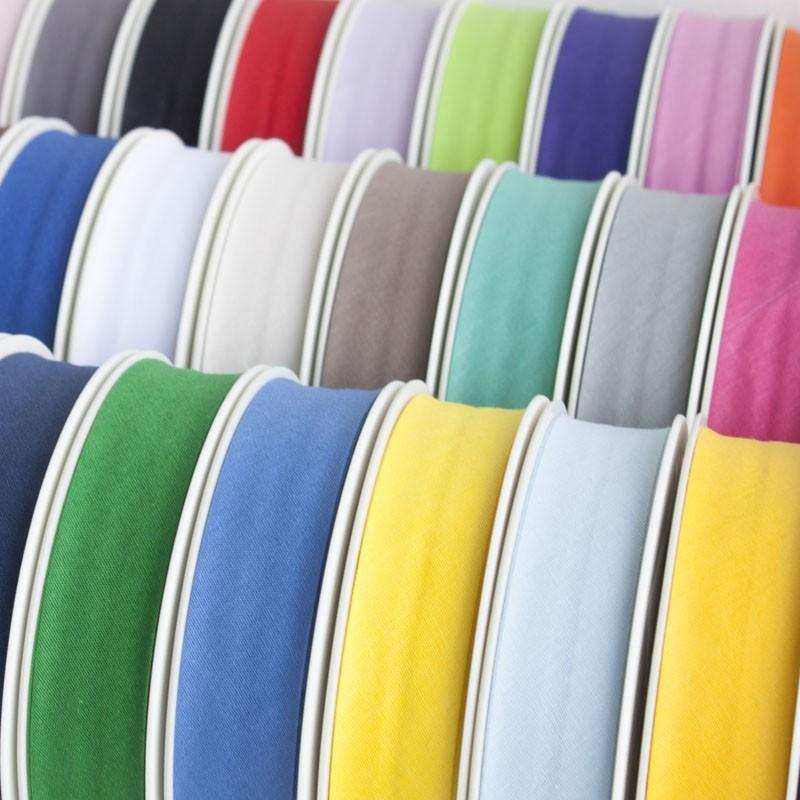 25mm Plain Bias Binding All Colours