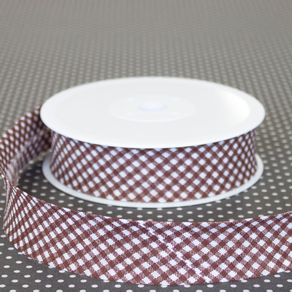 18mm Gingham Bias Binding - Frumble Fabrics