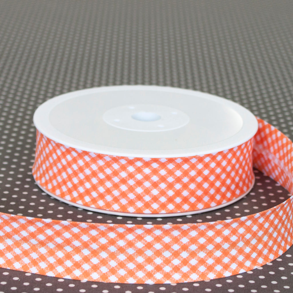30mm Gingham Bias Binding - Frumble Fabrics