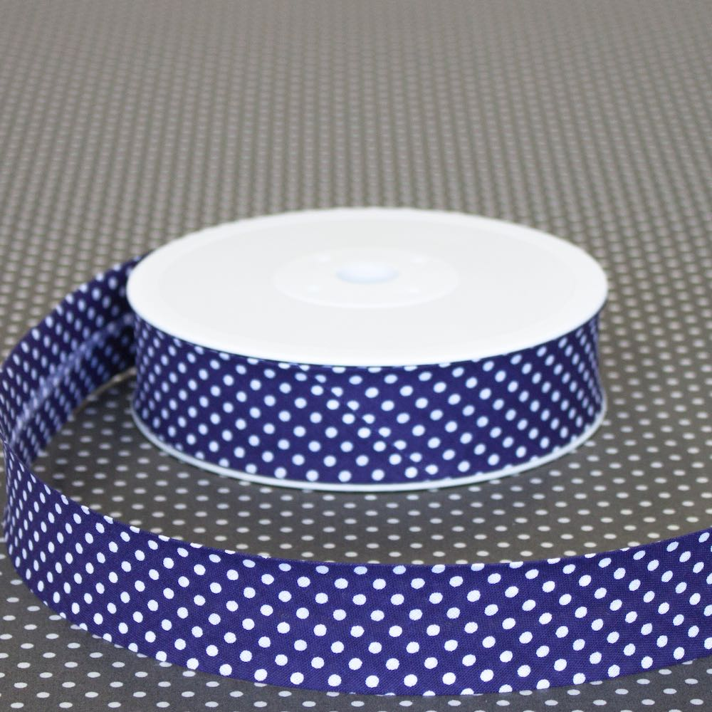 30mm Polka Dot Bias Binding - Frumble Fabrics