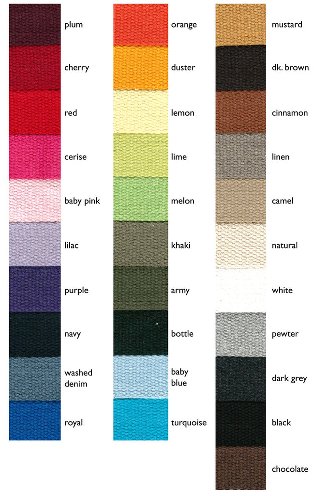 30mm Cotton Canvas Webbing - Frumble Fabrics