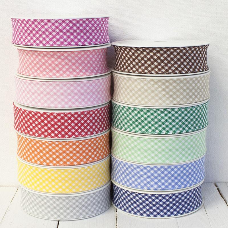 30mm Gingham Bias Binding All