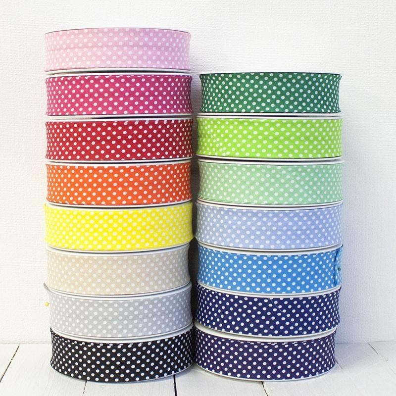 25mm Polka Dot Bias Binding - Frumble Fabrics