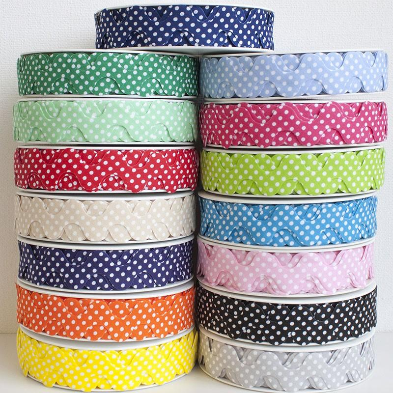 30mm Polka Dot Ric Rac Bias - Frumble Fabrics