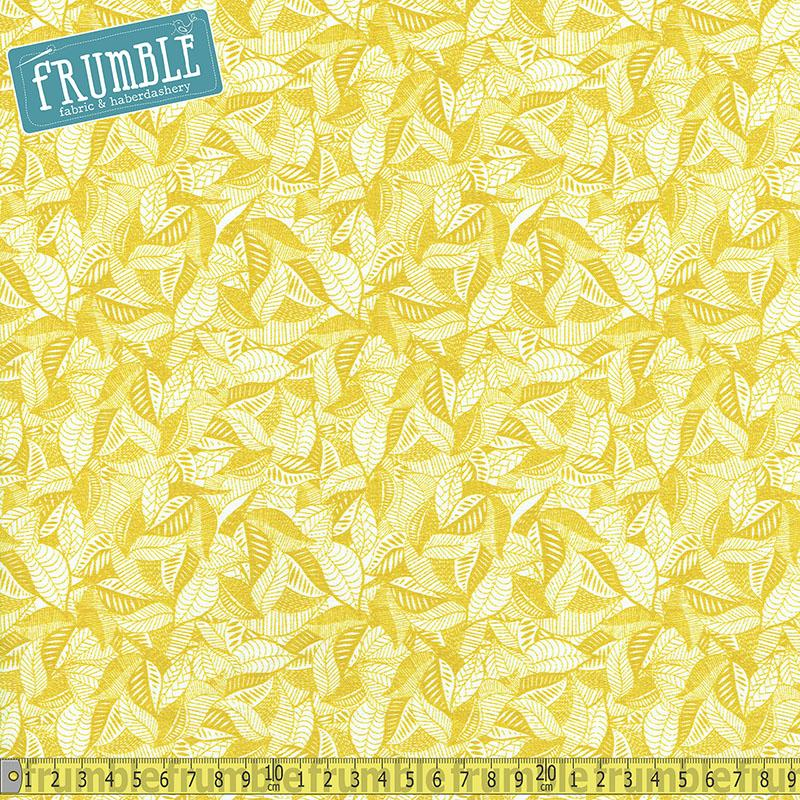 Summer Skies Fallen Leaves Gold - Frumble Fabrics