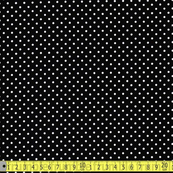 Mini 3mm Polka Dot Black (Per Metre) - Frumble Fabrics