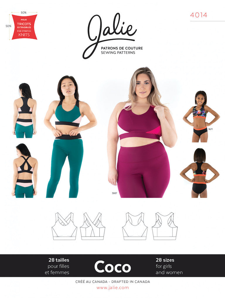 Coco Sports Bra  - Jalie Sewing Pattern - Frumble Fabrics