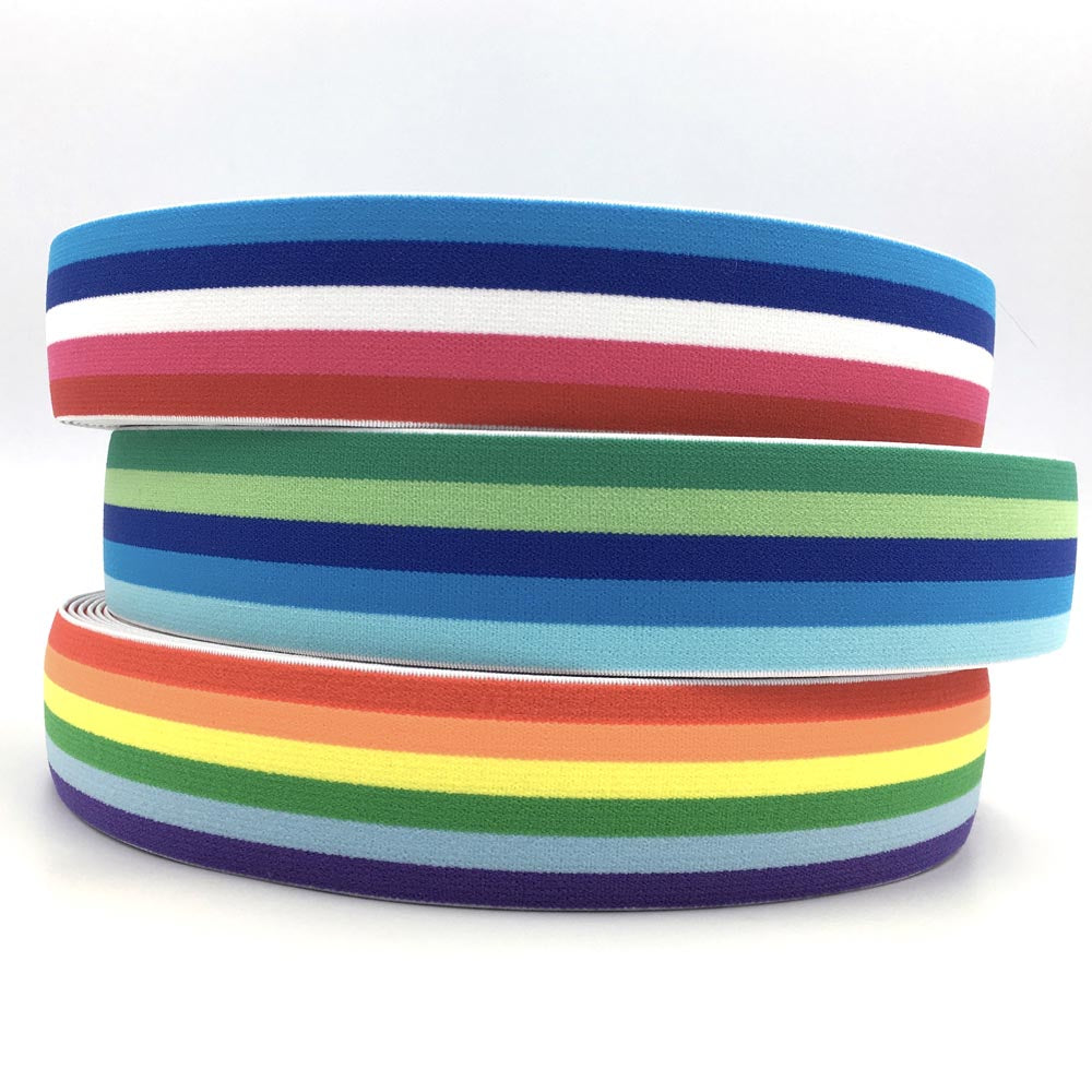 40mm Wide Stripe Waistband Elastic Neon - Frumble Fabrics