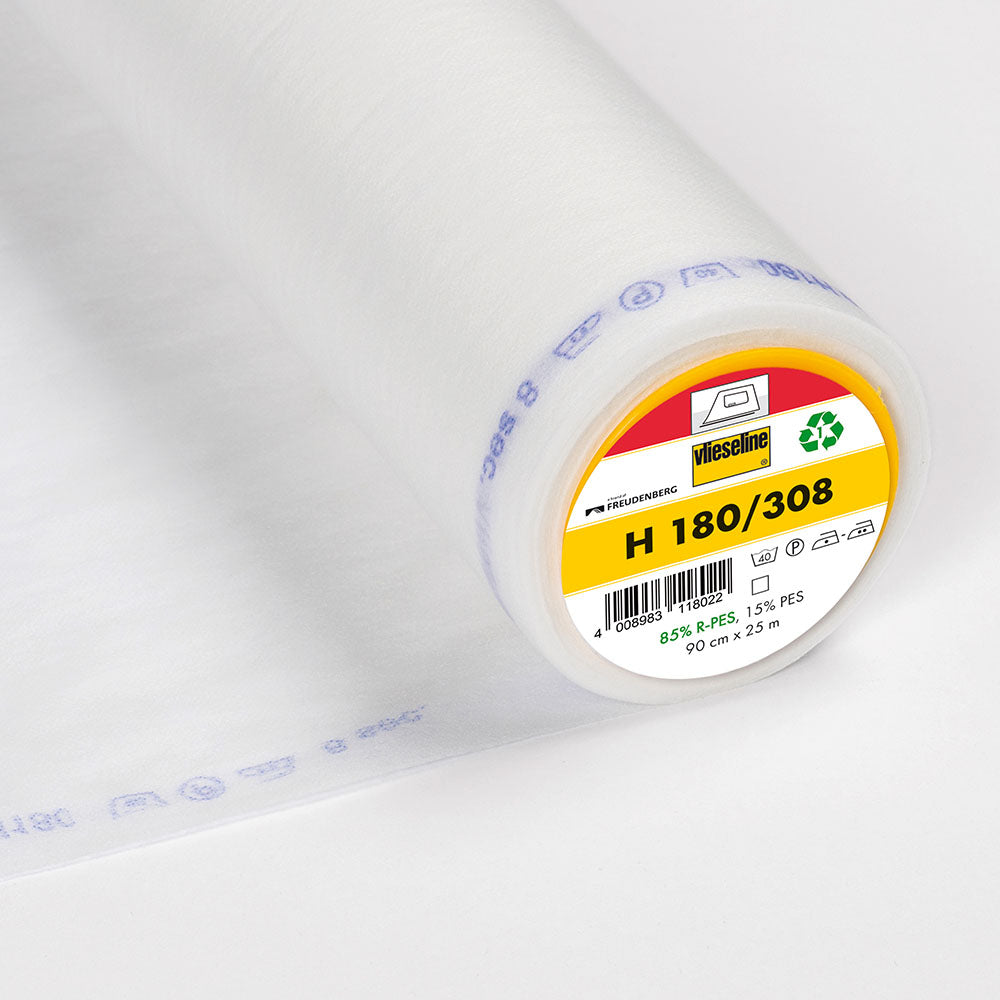 H180-308 White Lightweight Fusible Interlining (Per Metre) - Frumble Fabrics