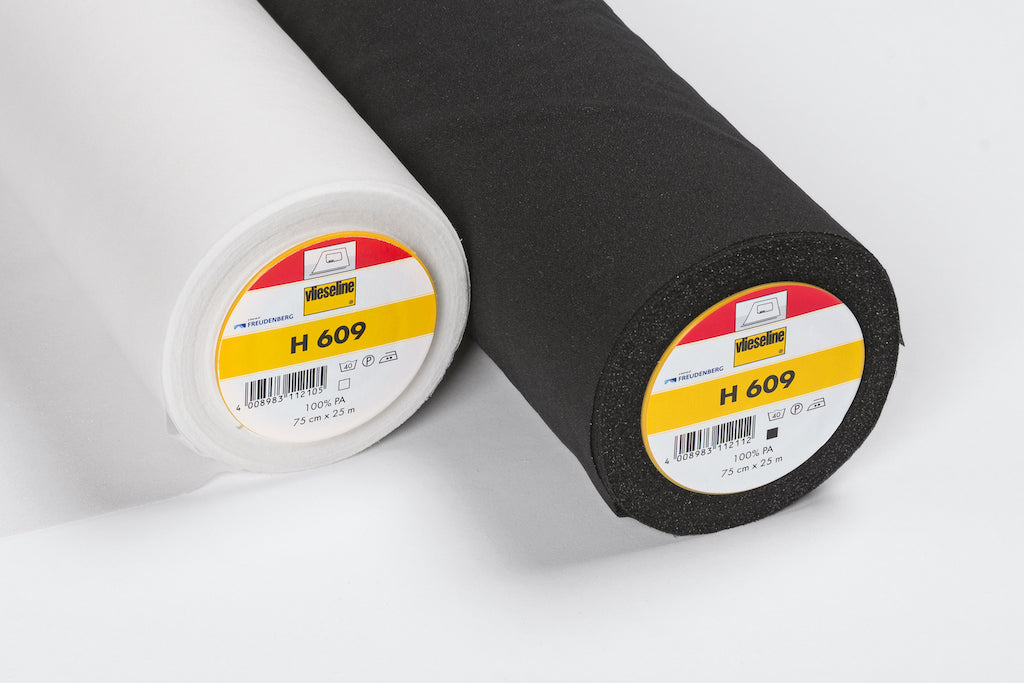 H609 Black Fusible Stretch Interlining (Per Metre) - Frumble Fabrics