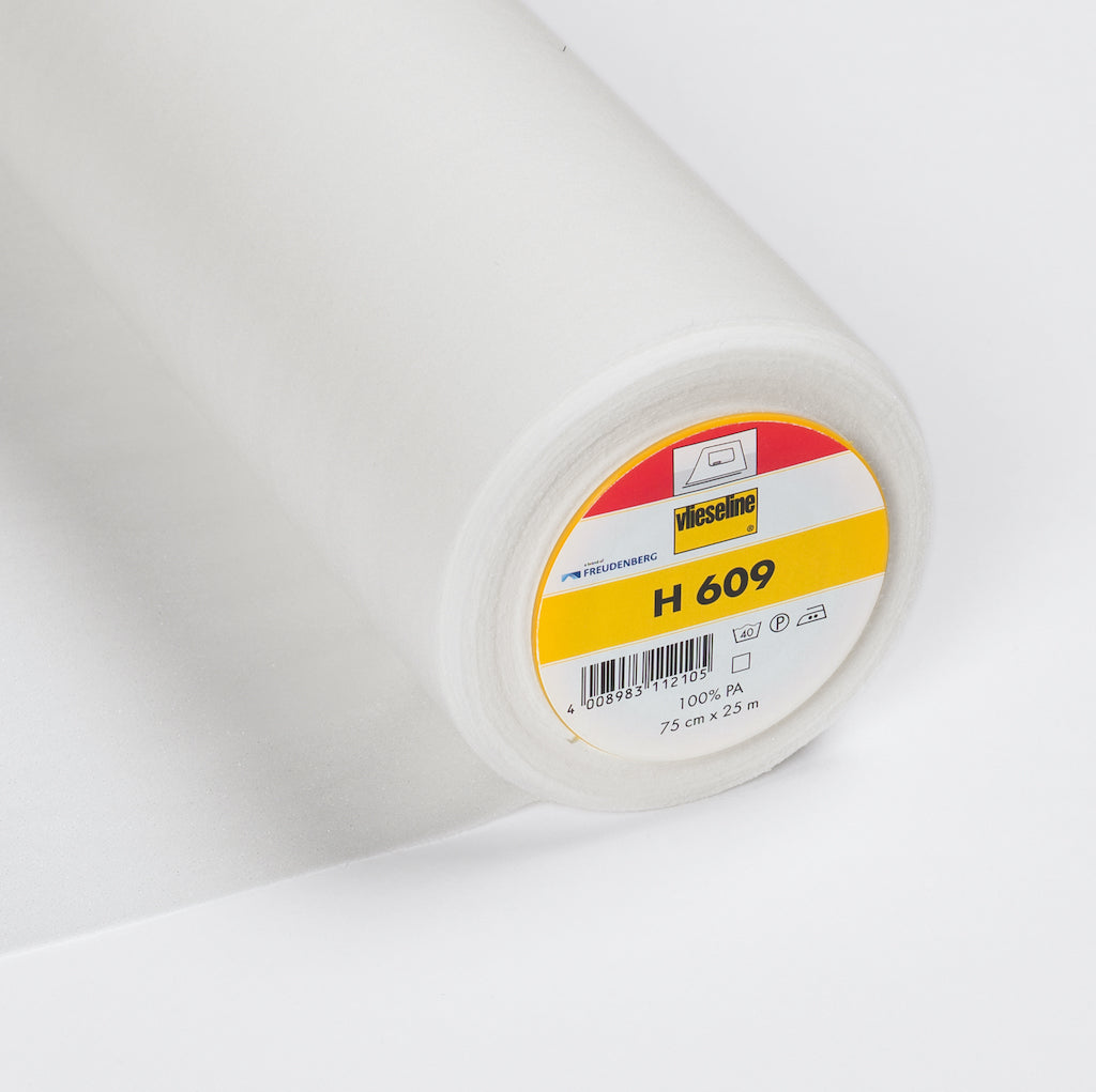H609 White Fusible Stretch Interlining (Per Metre)