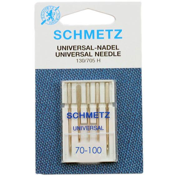 Schmetz Universal Needles 5-Pack - Sizes 70-100 - Frumble Fabrics